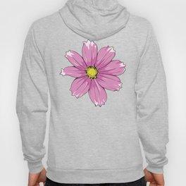 Pink Garden Cosmos Flower Hoody
