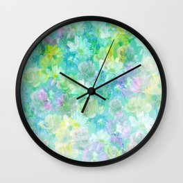 Enchanted Spring Floral Abstract Wall Clock