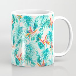 Tropical Paradise Pale Peach Coffee Mug