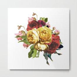 Vintage rose arrangement Metal Print