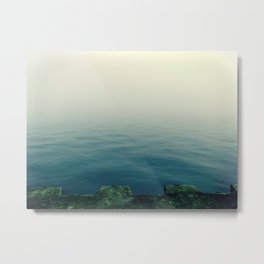 Fog on Lake Michigan Metal Print