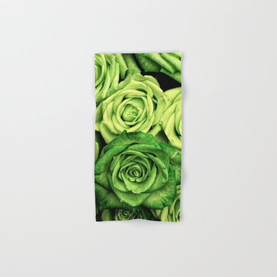 Green Roses Hand & Bath Towel