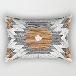 Urban Tribal Pattern 8 - Aztec - Wood Rectangular Pillow