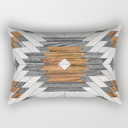 Urban Tribal Pattern No.8 - Aztec - Wood Rectangular Pillow