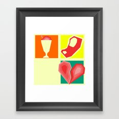Milkshakes, Steaks, and Heartbreaks Framed Art Print