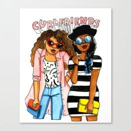 Curl friends Canvas Print
