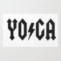 yoga Area & Throw Rugs featuring Yoga by InstantKarma
