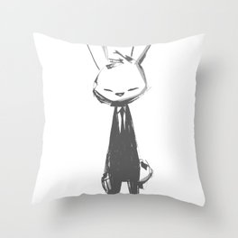 minima - beta bunny pose Throw Pillow