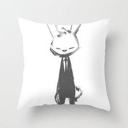 minima - beta bunny pose Throw Pillow