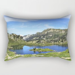 Nature uses green and blue Rectangular Pillow