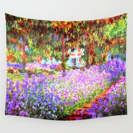 Monets Garden in Giverny Wall Tapestry
