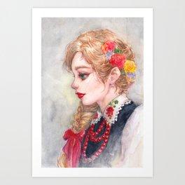 Lowiczanka Art Print