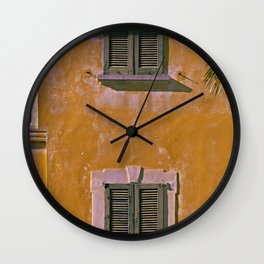 Old house in the north of Italy on the Swiss border Wall Clock