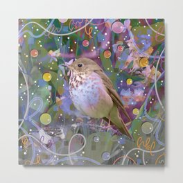 Magical Little Bird (Hermit Thrush) Metal Print