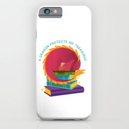 A Dragon Protects His Treasures (books) iPhone Case