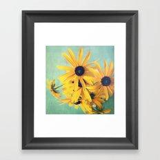 Sweet Yellow Flowers Framed Art Print