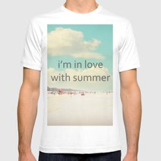 i'm in love with summer White Mens Fitted Tee MEDIUM