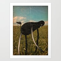 catcher in the rye Art Prints featuring the rye catcher by Marco Puccini