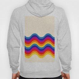 Wavy retro rainbow Hoody