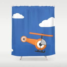 hel.eye.copter Shower Curtain