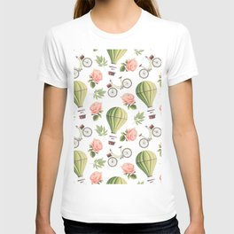 Bicycles Roses and Balloons T-shirt