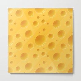 Orange Cheese Texture - Food Pattern Metal Print
