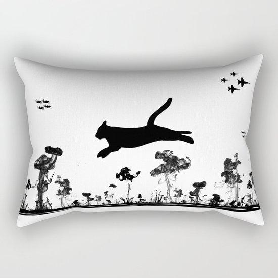 The Cat and Ink drop bombs Rectangular Pillow