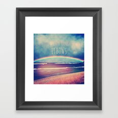 When It Rains, It Bows Framed Art Print