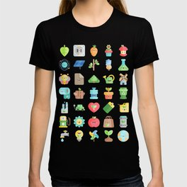 CUTE GREEN / ECO / RECYCLE PATTERN T-shirt