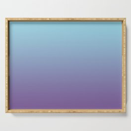 Pantone Chive Blossom Purple 18-3634 and Limpet Shell Blue 13-4810 Ombre Gradient Blend Serving Tray