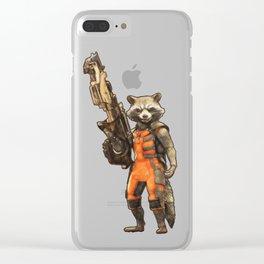 Rocket Raccoon Clear iPhone Case