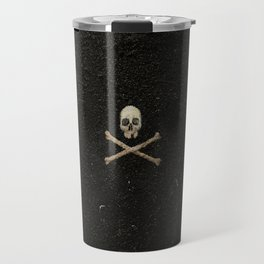 Tri Skull & Crossbones - Black Travel Mug