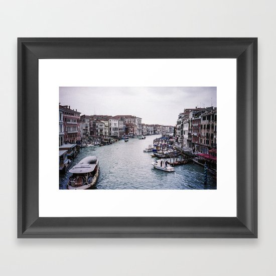 Faded Memories: Grand Canal Framed Art Print