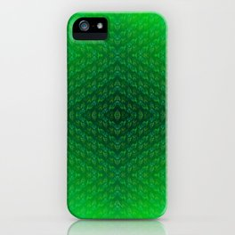Green-grass-pattern iPhone Case