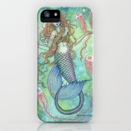 The Jellies Mermaid Jellyfish Watercolor Illustration Art iPhone Case