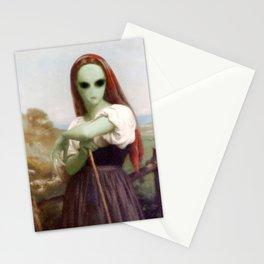 Bouguereau's Alien Shepherdess Stationery Cards