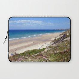 Perranporth Beach Cornwall Laptop Sleeve