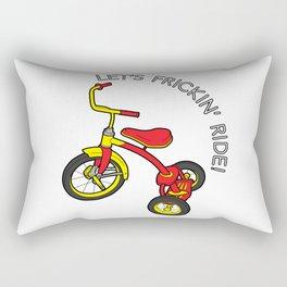 LET'S FRICKIN' RIDE! Rectangular Pillow