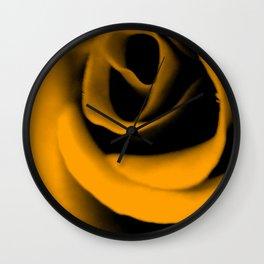 Yellow Rose III Wall Clock