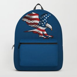 Patriotic Flying American Flag Eagle Backpack