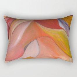 Red nude.  Original Painting by Ciel Ellis Rectangular Pillow