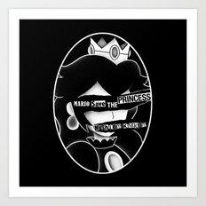 Mario save the princess Art Print