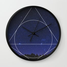 Magical Universe - Geometric Photographic Wall Clock
