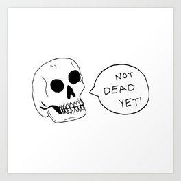 Positive Skeleton Art Print
