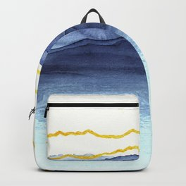 Abstract with gold lines 1 Backpack