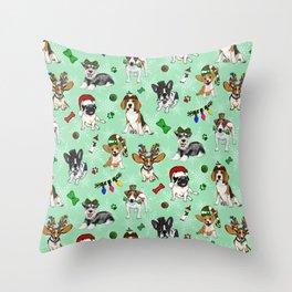 Christmas Doggos Throw Pillow