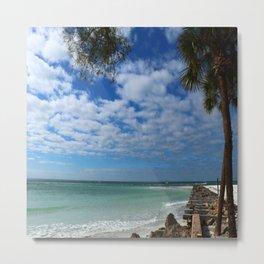 A Tropical Beach Metal Print