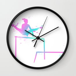 Gymnast - Bars Wall Clock