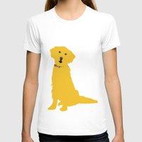 golden retriever T-shirts featuring Golden Retriever  Dog by ialbert