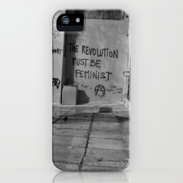 Feminist Anarchist Graffiti Urban Wall Exarchia Athens Greece iPhone Case
